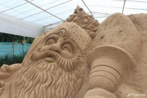 Sand Art of Santa Claus