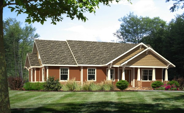 Craftsman Style House Plans for Ranch Homes