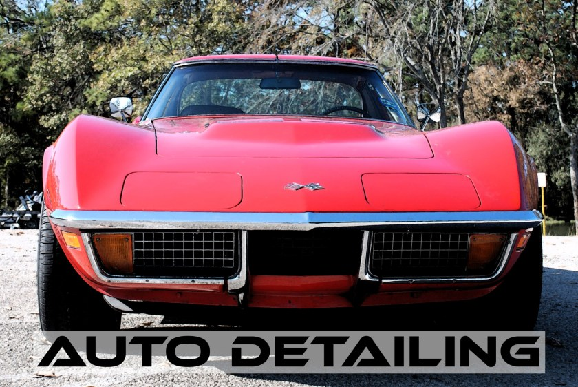 Corvette Detailing By RV And Auto Detailing Website Graphic.