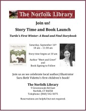 norfolk libary book launch flyer