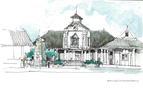 Sketch of Old Court House - courtesy of min-linesonpaper.blogspot.com