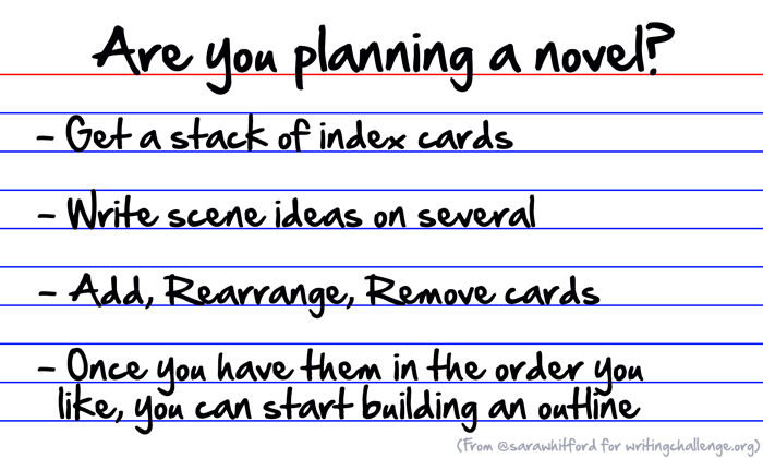 Planning a novel? Use index cards