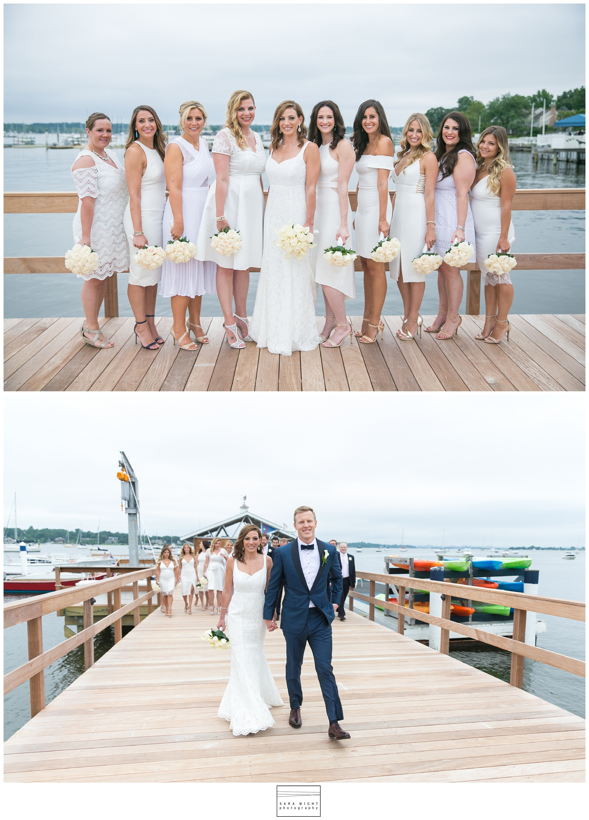 Port Washington Yacht Club Wedding Port Washington New York Mary  Nick  Sara Wight Photography