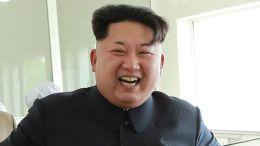 Kim Jong-un laughing