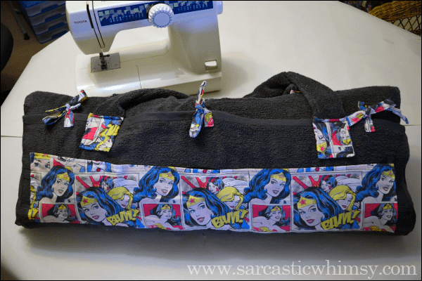 Sew a Roll Up Beach Bed. Comprehensive Wonder Woman CraftTutorial.