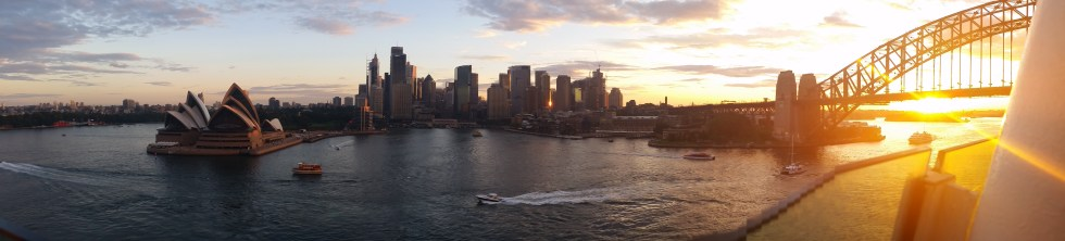 Cruising out of Sydney Harbour
