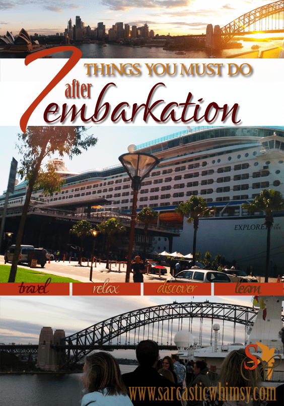 7 things you must do after embarking on a cruise