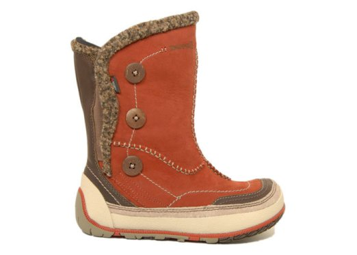 Puffin Frost Merrell boots in orange