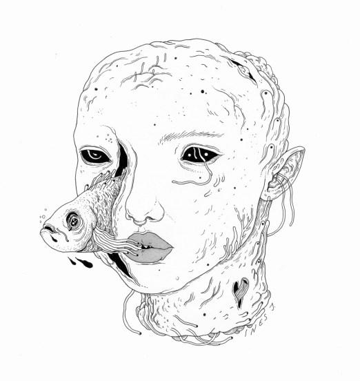 Ines J.  body of water / fineliner / 2016