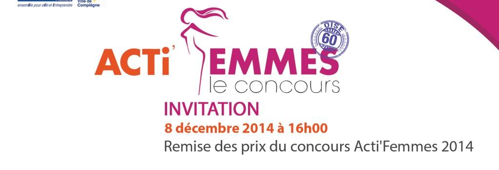Remise des prix Acti'Femmes Oise à Compiègne , le 8 décembre 2014
