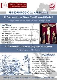 Locandina Pellegrinaggio in Sardegna 2013 – Foto di Sardegna Terra di Pace – Tutti i diritti riservati