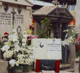 Tomba di Edvige Carboni ad Albano Laziale (RM) - Foto del Comitato Serva di Dio Edvige Carboni - Tutti i diritti riservati