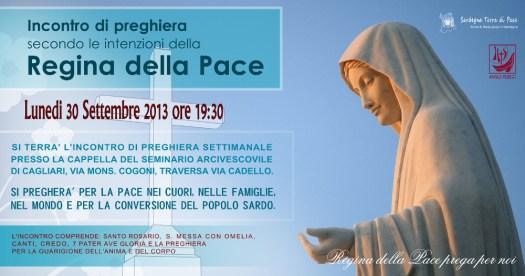 Locandina Incontro di Preghiera Settimanale del 30 Settembre 2013