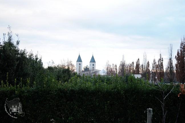 Medjugorje: campanili della Chiesa di San Giacomo Apostolo – Foto di Sardegna Terra di Pace – Tutti i diritti riservati