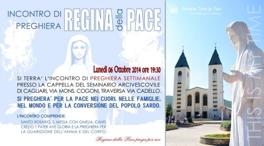Locandina Incontro di Preghiera Settimanale del 6 Ottobre 2014