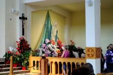 Medjugorje, Esaltazione della Croce 2014: Madonna di Lourdes all'interno della Chiesa di San Giacomo (3) – Foto di Sardegna Terra di Pace – Tutti i diritti riservati