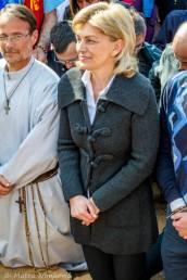 Medjugorje: Mirjana e Padre Hananias durante l'apparizione del 18 Marzo 2015 - Foto di Mateo Ivanković – Tutti i diritti riservati