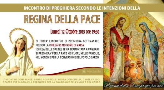 Locandina Incontro di Preghiera Settimanale del 12 ottobre 2015