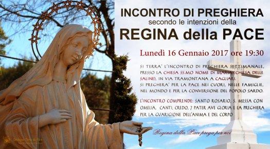 Locandina Incontro di Preghiera Settimanale del 16 Gennaio 2017