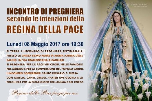 Locandina Incontro di Preghiera Settimanale del 08 Maggio 2017
