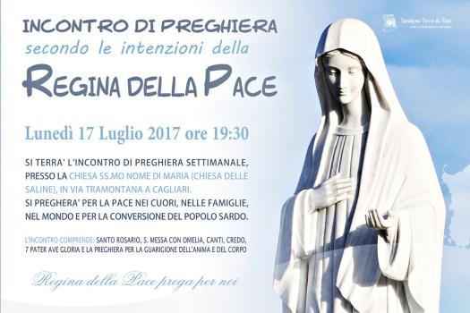 Locandina Incontro di Preghiera Settimanale del 17 Luglio 2017
