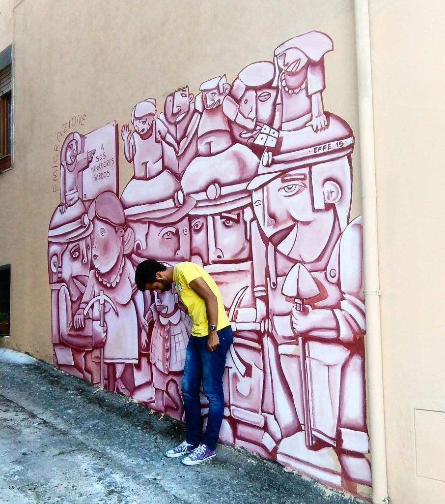 Murales di Orgosolo-Omaggio ai minatori