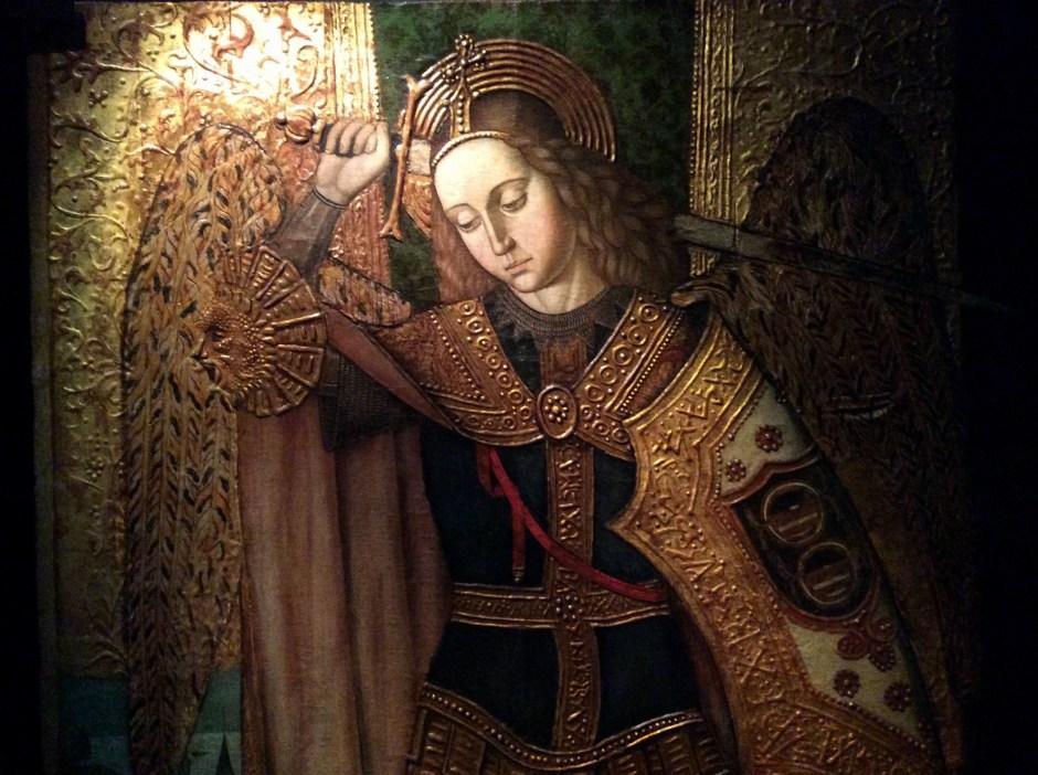 Arcangelo Gabriele - particolare del retablo del maestro di Castelsardo