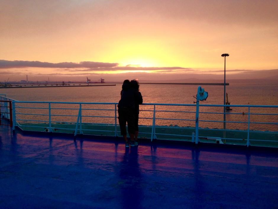 Il tramonto sul mare di Porto Torres