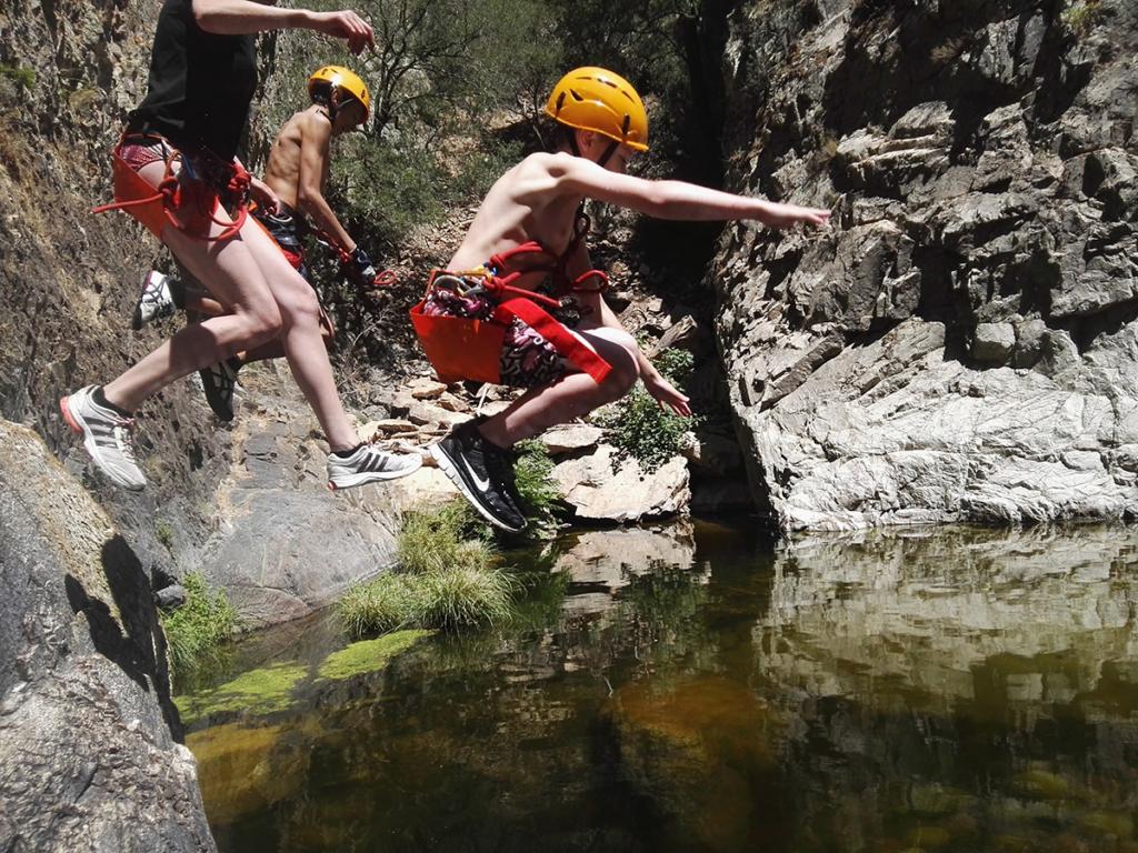 rio e forru canyoning sardinia jumps