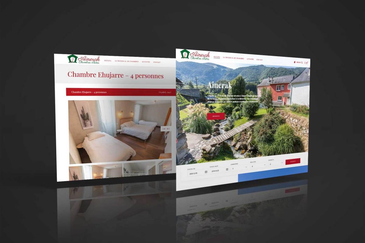 Site web Ainerak à Sainte Engrâce en Haute Soule