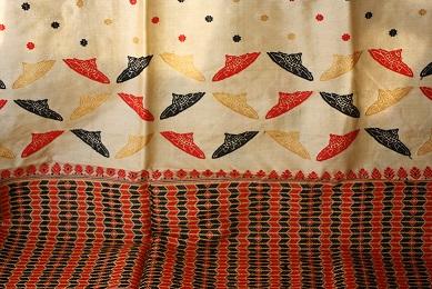 A jaapi design on a muga silk