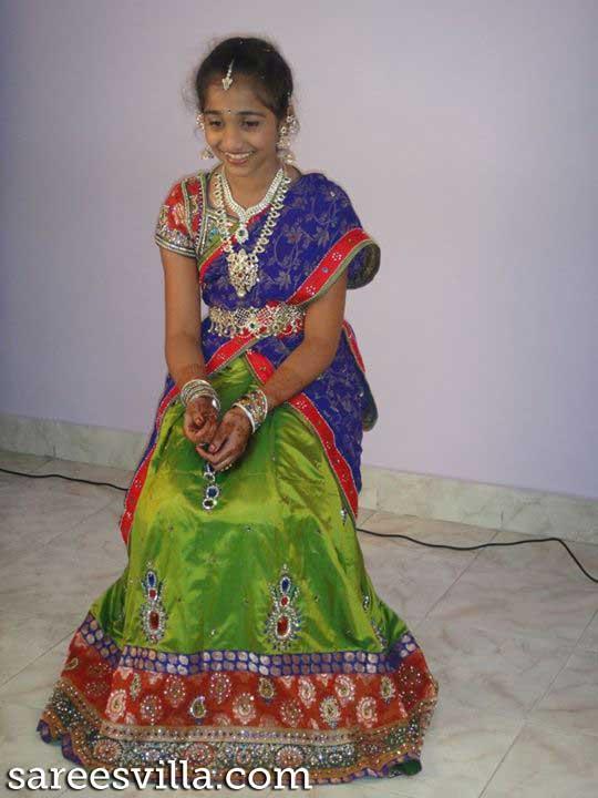 Cute Little Indian Girl Wallpapers Designer Half Sarees For Kids Sarees Villa