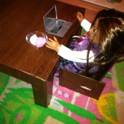 American Girl Doll Chairs Arm Chair And Ottoman Cardboard Table For Or 18″ Dolls | Saree Wearing Mama's Blog