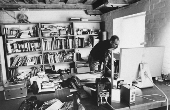 Steve Jobs in his office