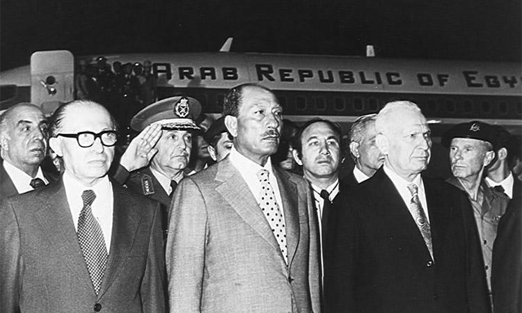Sadate en Israel