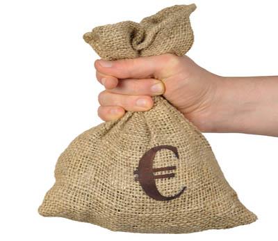 Afbeeldingsresultaat voor zak met geld euro