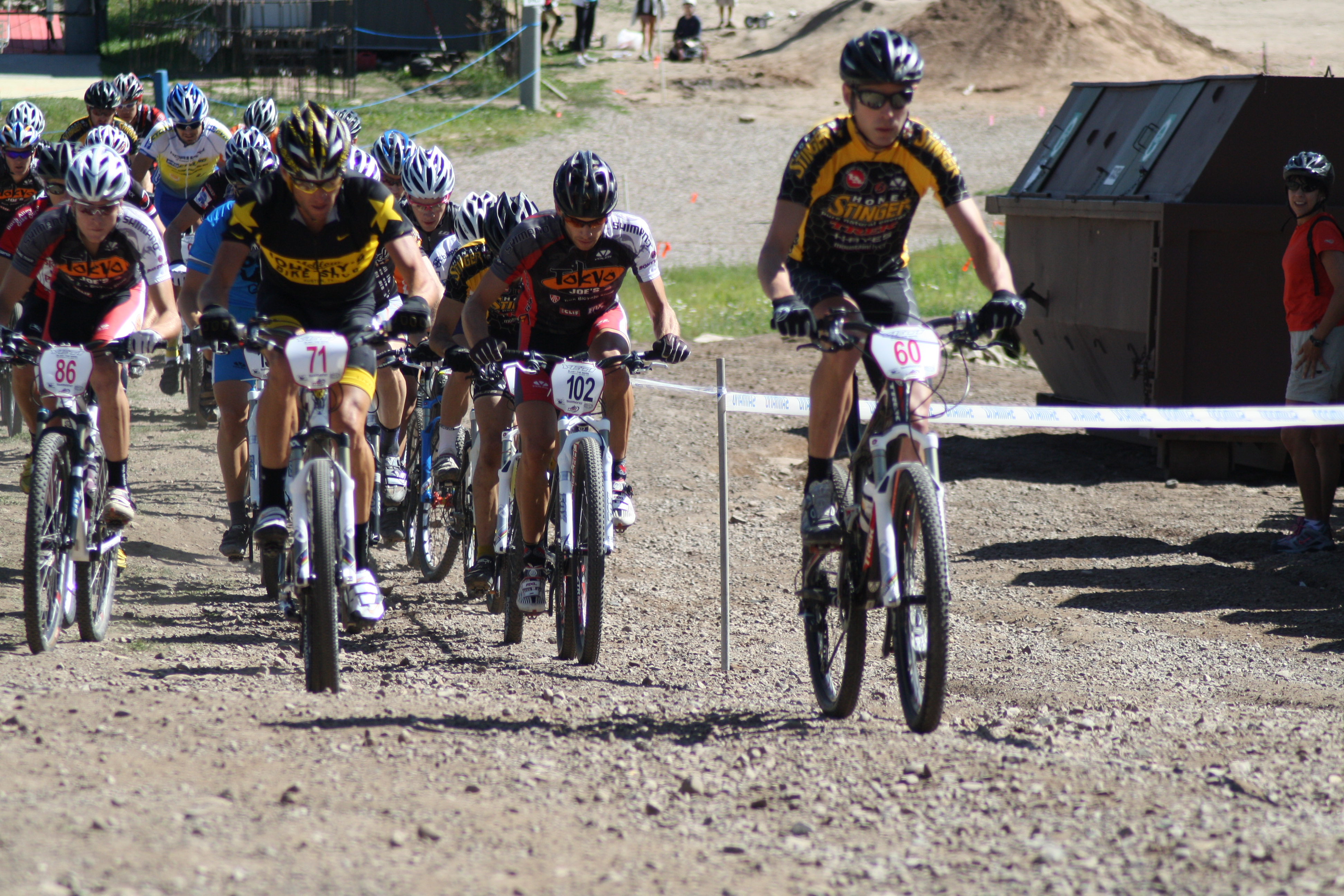 Len Zani leading Lance Armstrong & Jay Henry up the first climb.