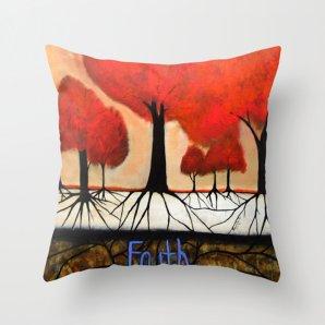 "Throw Pillow Cover,""ROOTS"",16x16,18x18,20x20 inches, inspirational pillow, home decor design,decorative pillow, faith decoration, religious"