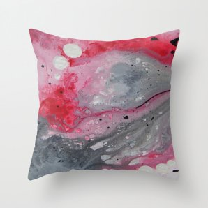 """Throw pillow cover, """"Red,Black and White"""", 16x16,18x18,20x20 inches,home decoration,decorative pillow,indoor decoration,outdoor decoration"""