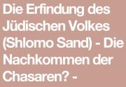 """Shlomo Sand: """"Die Erfindung des jüdischen Volkes"""""""