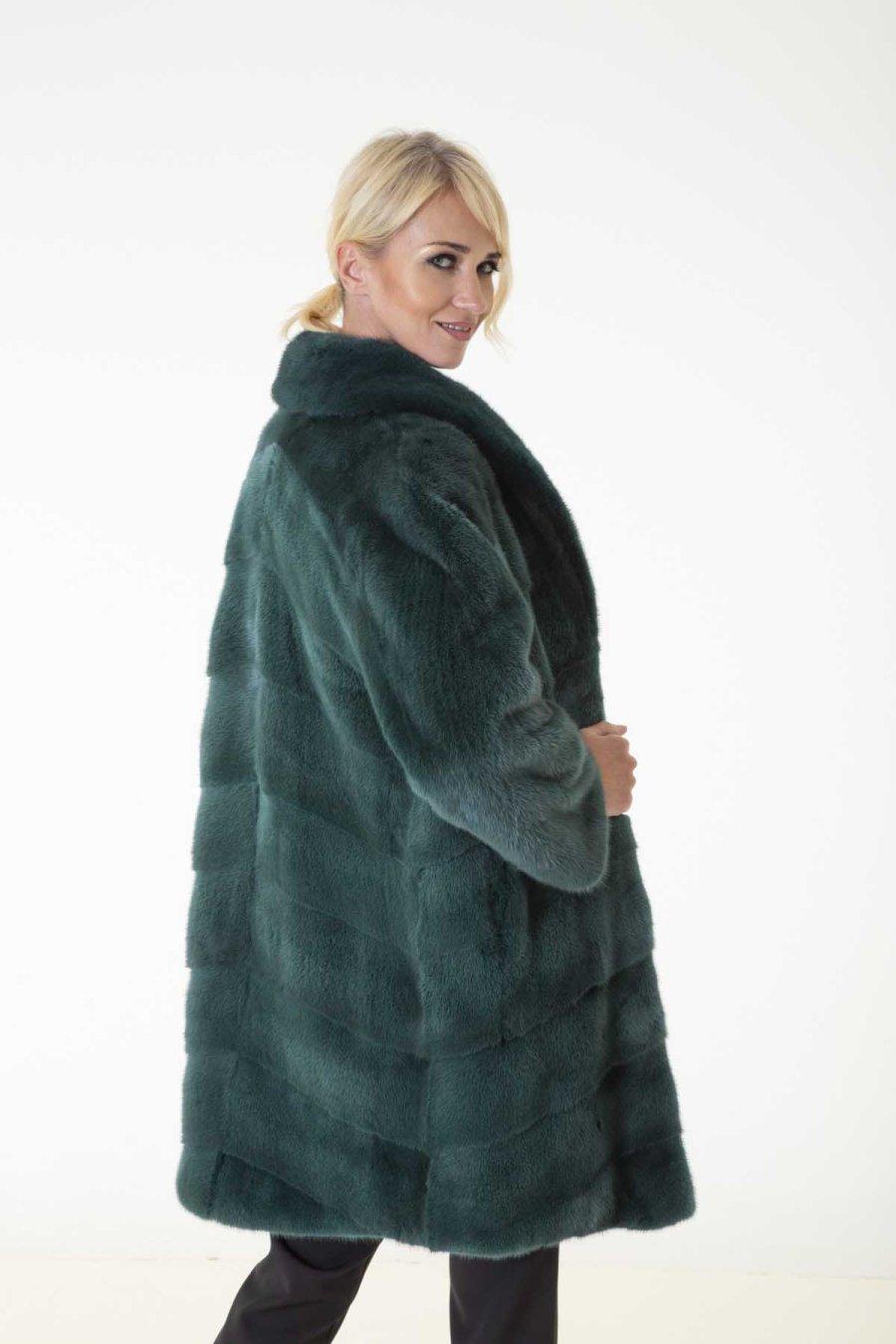 Shock Green Male Mink Farm Jacket | Пальто из меха норки – цвет Shock Green - Sarigianni Furs