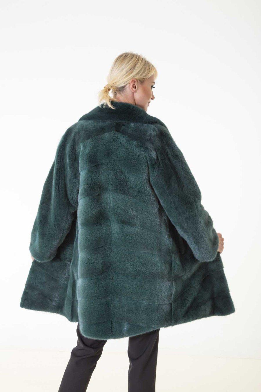 Shock Green Male Mink Farm Jacket | Sarigianni Furs