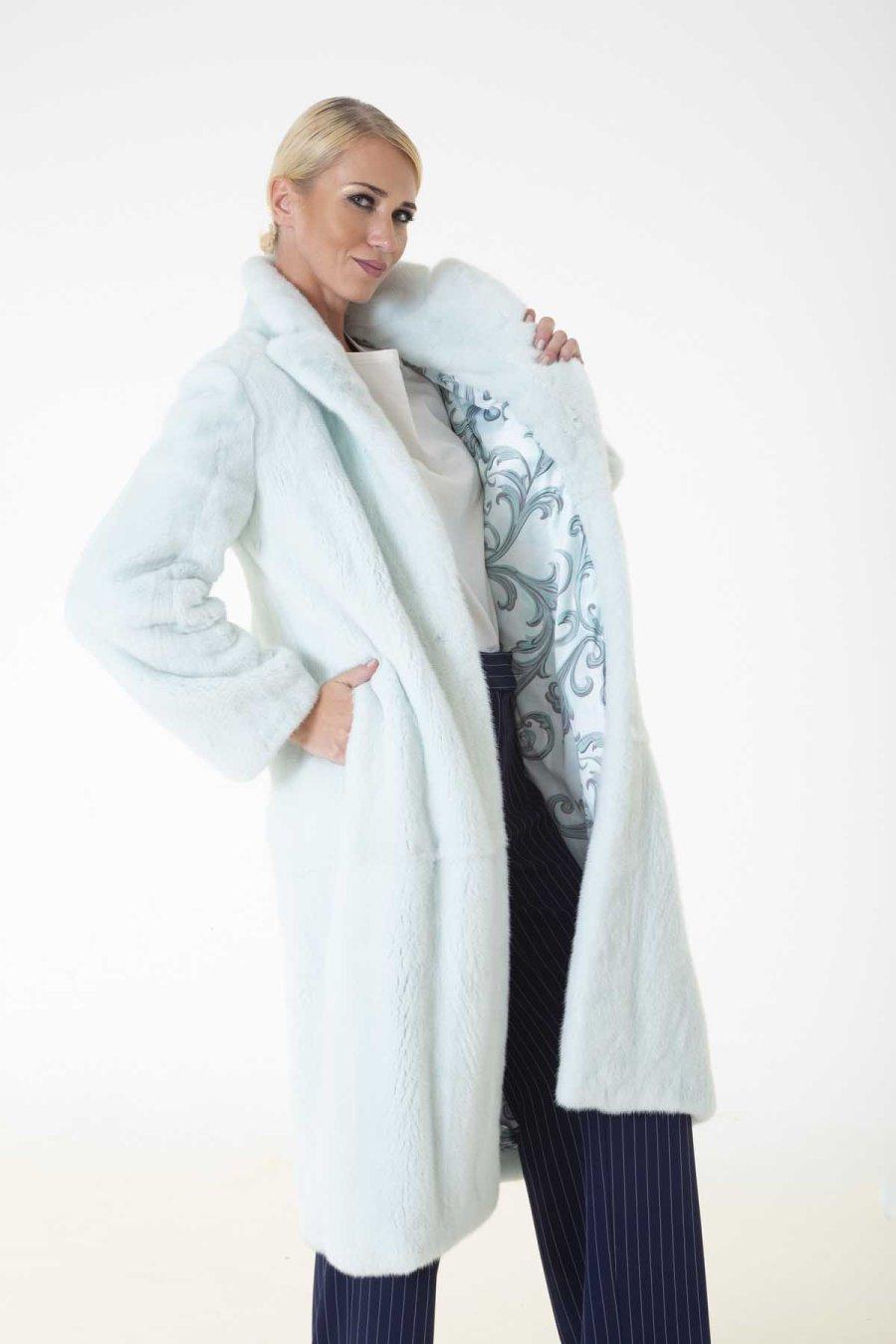 Verde Acqua Male Mink Coat | Sarigianni Furs