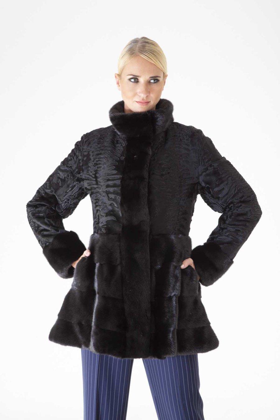 Blackglama Male Mink and Swakara Skin Jacket | Sarigianni Furs