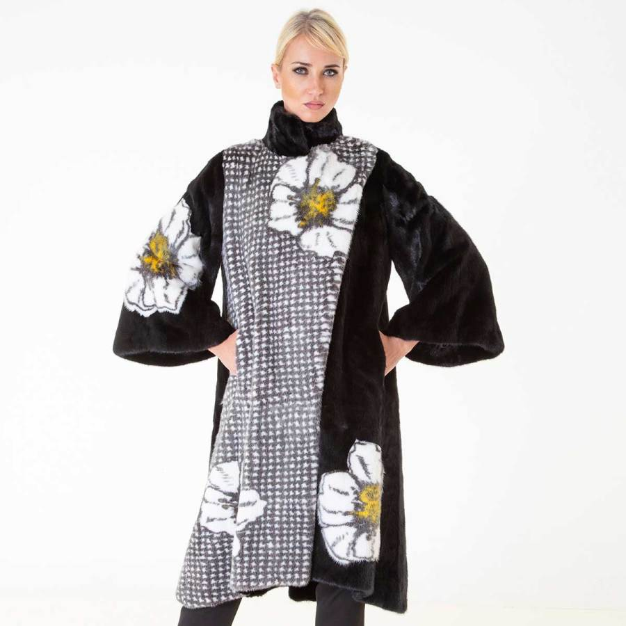 Blackglama Mink Coat with flower print | Шуба из норки Blackglama с цветочным принтом - Sarigianni Furs