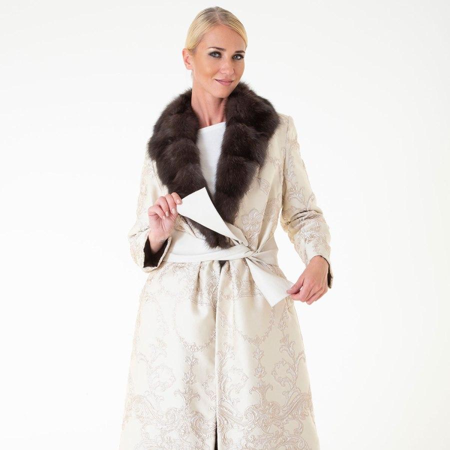 Шуба из соболя - внешняя отделка из ткани | Sarigianni Furs