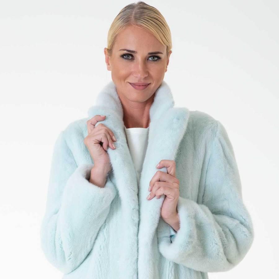 Verde Acqua Male Mink Coat | Шуба из норки цвета Verde Acqua - Sarigianni Furs