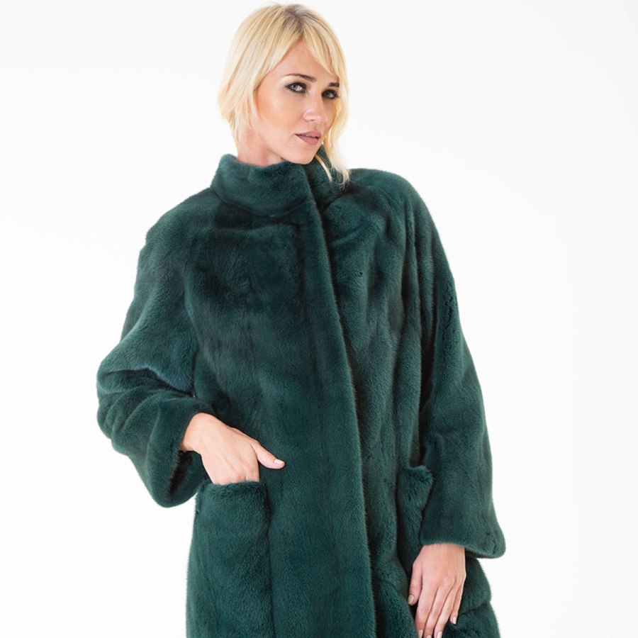 Shock Green Male Mink Fur Jacket | Sarigianni Furs