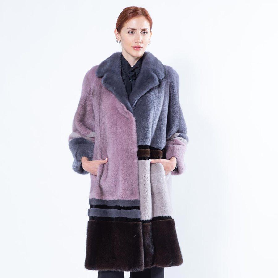 Multi-coloured Mink Jacket | Sarigianni Furs