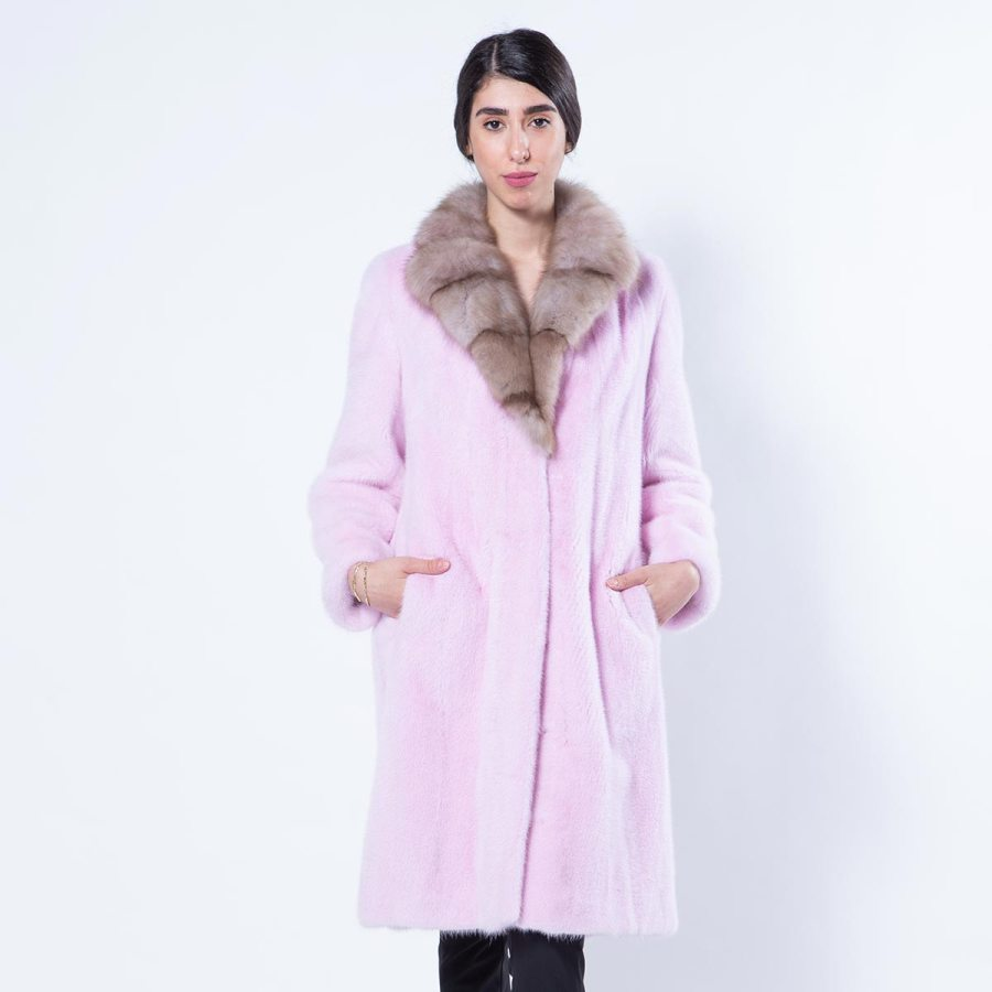 Mink Coat with Marten collar | Sarigianni Furs